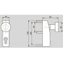 PHT 06 внешний фитинг с поворотным кнобом