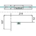 PT 40 угловой фитинг для фрамуги и боковой панели со вставкой-стопором