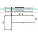 PT 40 угловой фитинг для фрамуги и боковой панели с глухой вставкой