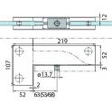 PT 40 угловой фитинг для фрамуги и боковой панели с осевой вставкой (ø 15 мм)