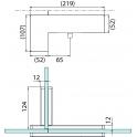 PT 41 угловой фитинг для конструкций с ребром жесткости со вставкой-стопором левая сторона