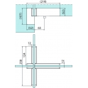 PT 41 8430 угловой фитинг для конструкций с ребром жесткости с осевой вставкой