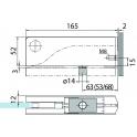 PT 30 угловой фитинг для фрамуги с осевой вставкой (ø 15 мм)