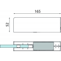PT 30 угловой фитинг для фрамуги с глухой вставкой