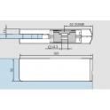 PT 22 верхний угловой фитинг с вставкой под RTS доводчик