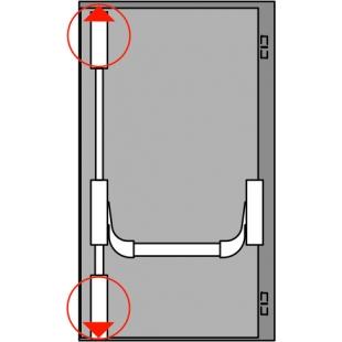 Комплект АНТИПАНИКИ PHA 2000 с двумя точками запирания на ширину до 1300 мм