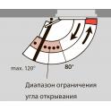 Ограничитель угла открывания для установки в G-N, G96N20