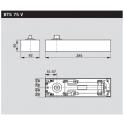 BTS 75 V напольный доводчик без фиксации