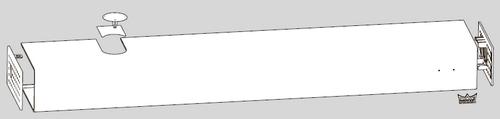 Базовая крышка ED BASIC – алюминиевая крышка для привода одностворчатой двери.